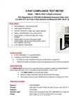Model TBM-IC-XRAY - X-Ray Compliance Meter with Built-In Detector - Brochure