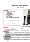 TA - Model TBM-IC-RN - Portable Radon Monitor - Brochure