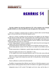 Agrónic - Model 54 - Hydroponic Fertigation Unit Brochure