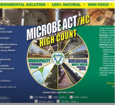 MICROBEACT / HC - Model (High Count) - SEPTIC TANK