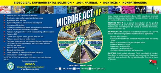 MICROBEACT/ HP - Model (High Performance) - Waste water Treatement