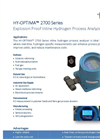 HY-OPTIMA 2700 Series Explosion Proof In-line Hydrogen Process Analyzer Data Sheet