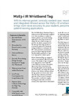 M163-i IR Wristband Tag Spec Sheet