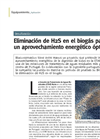 Removal of H2S from biogas for optimal energy use (Spanish)