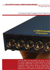 Prosig - Model P8004 - Ultra Portable 24 Bit Data Acquisition System Brochure
