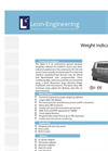 Leon - DELTA 6 - Economical, General Purpose Weight Indicator Datasheet