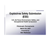 Explosives Safety Submission (ESS) by Ben Redmond