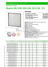 Megalam - Model MD14/ME, MD15/ME, MX15/ME -1PU - HEPA Panel Filters Brochure