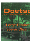 Large Diameter Sewer Cleaning - Brochure