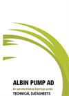 Albin AOFD AD Air Operated Floating Diaphragm Pump - Datasheet