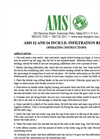 AMS - 12 and 24 Inch I.D. - Infiltration Rings Operating Instructions Manual