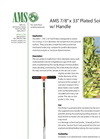 AMS - 7/8 x 33 - Plated Soil Probe w/ Handle Technical Datasheet