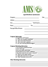 AMS Distributor Questionnaire Form