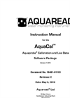 AquaCal Aquaprobe - Calibration and Live Data Software Package - Instruction Manual Rev C