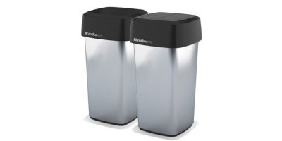 Rothopro Iris Square - Hands Free Metallic Bins
