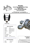 Model P-50-A/AJ 60Hz Agitator Slurry Pump - Technical Datasheet
