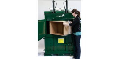 PEL - Model 1500 - High Density Vertical Baler with Drum Crusher Option