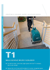 Model T1 - Walk Behind Micro Scrubber Brochure