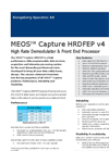 MEOS - Model HRDFEP v4 - High Rate Demodulator & Front End Processor Brochure