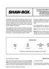 Shaw-Box - Model 800 Series - Double Reeved Air Wire Rope Hoist and Trolley Brochure