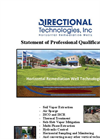 Statement of Professional Qualifications for Directional Technologies, Inc.