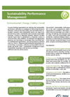 Sustainability Performance Management Datasheet