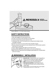 Aerosolv - Model 5000 - Aerosol Can Disposal System - Manual