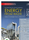 9th Annual Energy From Waste Conference (SMi) 2016 Brochure