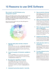 10 Reasons to Use SHE Software Brochure