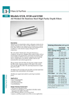 Models 6124, 6134 and 6164 - Stainless Steel High Purity Depth Filters Brochure
