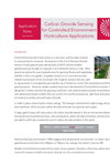 Carbon Dioxide Sensing for Controlled Environment Horticulture Applications Notes