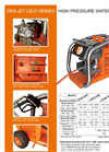 Model CE20 Series - Electrical Driven High Pressure Water Blasters Brochure