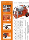 Model CE40 Series - Electric Water Blasters Brochure