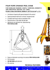 Model PMC-0,9 - Four Rope Orange Peel Grab Brochure