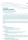 HYDROlog - Model 3000PT - High Accuracy Hydrotest Logger - Datasheet
