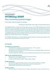 HYDROlog - Model 3000F - Flow Monitoring Hydrotest Logger - Datasheet