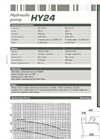 Dragflow HY24 Hydraulic Submersible Agitator Pump Datasheet