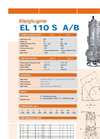 EL 110 S A/B Electric Pump Brochure