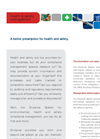 Health & Safety Brochure (PDF 50 KB)
