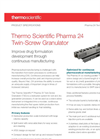 Thermo Scientific Pharma 24 - Model TSG - Twin-Screw Granulator - Technical Specifications