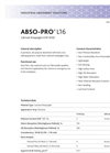 ABSO-PRO - Model L16 - Premium All Purpose Absorbent Brochure