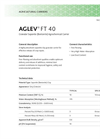 AGLEV - Model FT 40 - Highly Absorbent Saponite Clay Granular Carrier Brochure