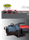 Ecojet - Self Priming Pumps Specifications