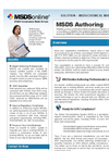 MSDS - - Safety Data Sheet & Chemical Label Authoring Software Brochure