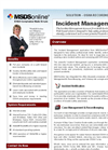 Reduce Workplace Incidents Sotware Brochure