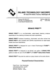 BRAKE PREP - Water-Based Cleaning Compound Data Sheet