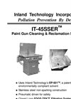 IT-45SSER - Manual Paint Gun Washer/Reclamation System – Technical Data