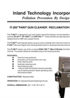 IT-200 - Paint Gun Washer/Reclamation System Technical Data