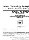 25 Micron - Resin Filters Technical Data