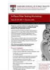 In-Place Filter Testing Workshop Brochure